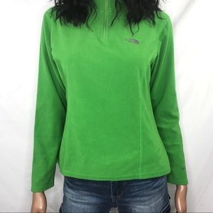 The North Face TKA 100 Green Fleece Pullover